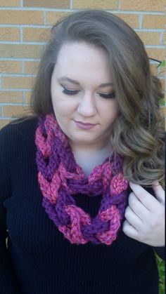 Chain-linked Think Necklace Infinite Scarf by TooLegitToKnitCrafts on Etsy