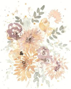Watercolor Paintings, Original Paintings, Original Art, Botanical Flowers, Dahlia, Impressionism, Artwork Online, Buy Art, Paper Art