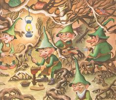 The Big Golden Book of Elves and Fairies with Assorted Pixies, Mermaids, Brownies, Witches, and Leprechauns illustrated by Garth Williams, 1951.