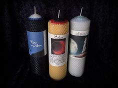 Lunar Magic Candle Trio: New Moon, Full Moon & Eclipse candles to manage all the moon's phases on Etsy, $68.00