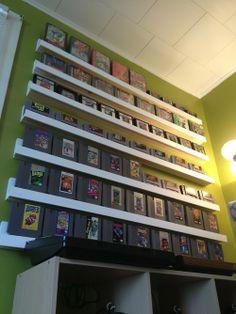 Habitación de videojuegos, cartuchos NES
