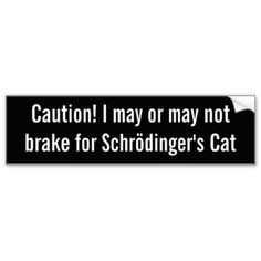 Shrodinger's Cat bumper sticker Car Bumper Sticker
