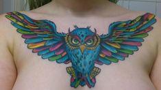 Owl by Victor Nordström ~ Spooky fish tattoo, Sweden