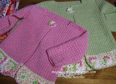 Magia do Crochet: Casaco em crochet - menina