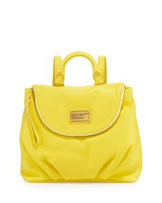 Classic+Q+Mariska+Backpack,+Banana+Cream+by+MARC+by+Marc+Jacobs+at+Neiman+Marcus.