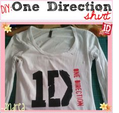 DiY; One Direction Shirt♥, created by the-tip-nerds on Polyvore