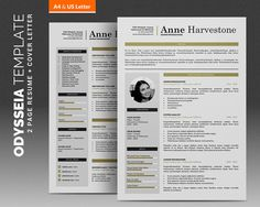 Modern Resume Template  Pages  Word Resume Cv Template With