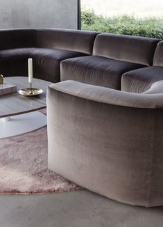 The Bo sofa, designed by Piet Boon offers comfort and versatility. Large, rounded seating elements complemented by rich fabrics allow the sofa to adapt to… Furniture Styles, Sofa Furniture, Living Room Furniture, Furniture Sets, Furniture Design, Furniture Websites, Interior Work, New Interior Design, Gebogenes Sofa