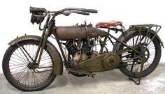 1917 Harley Davidson motorcycle.