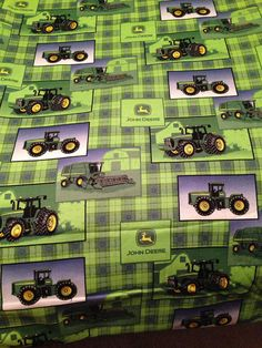 Large Baby Swaddle Blanket, Big Green Tractor, John Deer, Green, Baby Boy, Baby Receiving Blanket, Baby Shower Gift on Etsy, $18.50
