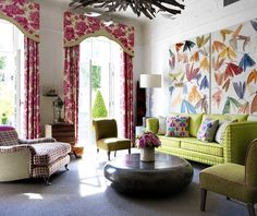 Bright patterns are sneaking back into our homes. it makes me happy!