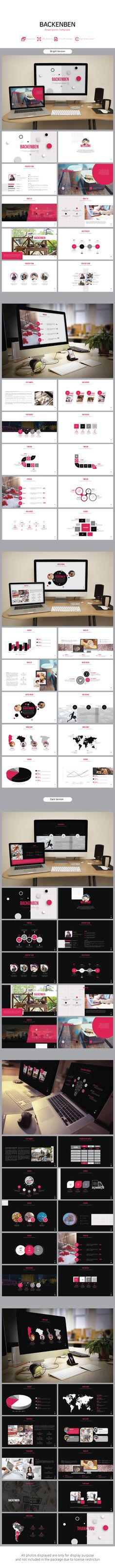 Backenben Presentation Powerpoint — Powerpoint PPT #annual report #Social Marketing • Download ➝ https://graphicriver.net/item/backenben-presentation-powerpoint/19448230?ref=pxcr