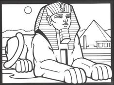 Cleopatra Coloring Pages | Egyptian Stained Glass Coloring Book | Additional photo (inside page)