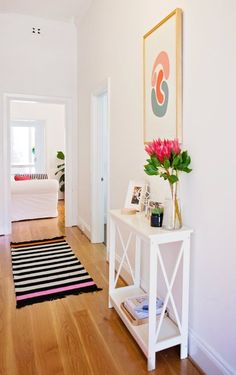 7 Small-ish Hallways That Are Maxed Out on Style (Apartment Therapy Main) Small Hallway Table, Small Hallways, Entryway Tables, Hallway Ideas, Entryway Ideas, Small Entry Tables, Small Console Tables, Entrance Table, Hallway Inspiration