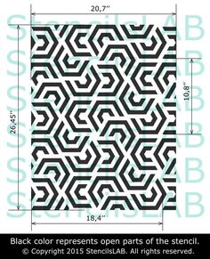 FRANK - Geometric Painting Stencil For Wall Decoration - Large Sheet Wall Stencil For Modern Wall Decor- Wall Stencils Large- StencilsLAB Geometric Stencil, Geometric Painting, Geometric Wall, Home Decor Colors, Colorful Decor, Stencil Painting, Stencil Walls, Modern Wall Decor, Wall Patterns