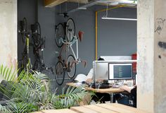 The Cycloc ENDO offering office #bike #storage with extra #style