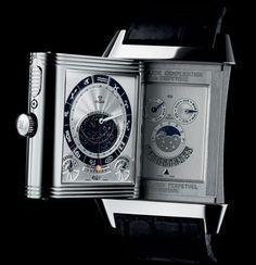 Jaeger-LeCoultre Reverso Grande Complication À Triptyque Dream Watches, Fine Watches, Luxury Watches, Cool Watches, Watches For Men, Stylish Watches, Wrist Watches, Men's Watches, Jaeger Lecoultre Reverso