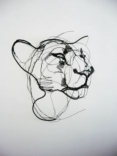 Wire Animal Sculptures Look Like Life-Size Scribbled Drawings Suspended in Mid-Air - My Modern Met