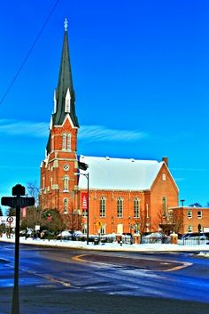 One of the many churches in town.