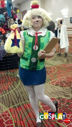 Isabelle Cosplay from Animal Crossing: New Leaf in AnimeFest 2013 US