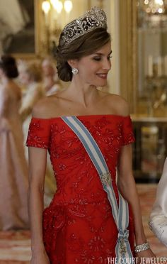 Spanish State Visit Jewels: State Banquet at Buckingham Palace | The Court Jeweller
