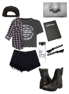 """Untitled #7"" by analiaminuchin ❤ liked on Polyvore featuring Topshop, Frye, Roark and Wet Seal"