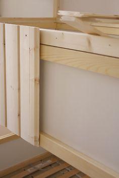 Cute DIY Wood house with Kura beds IKEA Hackers