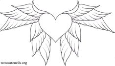 Tribal heart with wings tattoo design - clip art library. Cross Coloring Page, Angel Coloring Pages, Shape Coloring Pages, Tattoo Coloring Book, Coloring Sheets, Free Coloring, Heart With Wings Tattoo, Black Heart Tattoos, Tattoo Black
