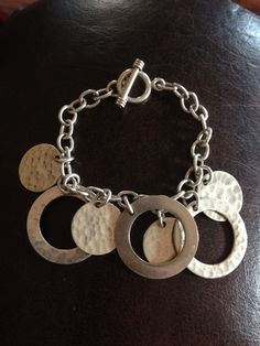 Circles Sterling Silver Taxco Mexico Bracelet.