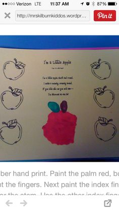 Apple handprint poem