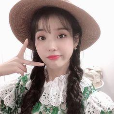 Image may contain: one or more people, hat and closeup Iu Fashion, Korean Star, Ulzzang Girl, Korean Singer, Korean Actors, Kpop Girls, Girl Group, My Girl, Idol