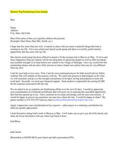 sample support letter for refugee missionary support letter template pdf