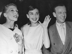 Kay Thompson, Audrey Hepburn and Fred Astaire, 1957