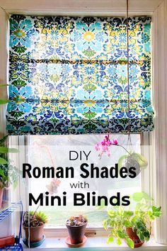 Making a custom fabric Roman shade is easy with a mini blind. See this step by step tutorial to make your own this weekend. Fabric Roman Shades, Diy Roman Shades, Make Your Own, Make It Yourself, How To Make, Mini Blinds, Custom Fabric, Projects To Try, Easy