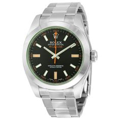 Rolex Milgauss Stainless Steel Green Sapphire Watch 116400GV