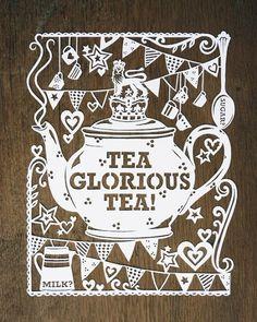 Glorious tea papercut