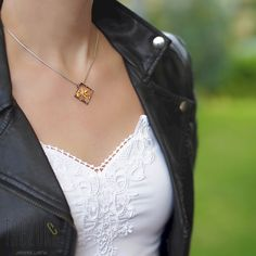AU$47. Bamboo Pendant. Oxidised Sterling silver, gold plated. Worldwide shipping. Oxidized Sterling Silver, Sterling Silver Chains, Black Rhodium, Silver Plate, Bamboo, Community, Yellow, Pendant, Board