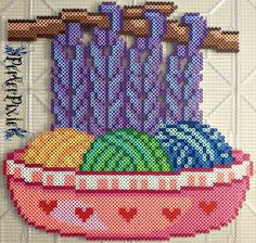 This is probably as close to knitting/crocheting/yarn art as I'll ever get. Meh, oh well!