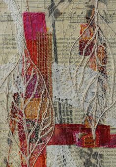 Art Fibres Textiles, Textile Fiber Art, Textile Artists, Fiber Art Quilts, Textiles Techniques, Art Techniques, Art Fil, Art Du Collage, A Level Art Sketchbook
