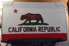 Fraternity cooler. Pike mountain weekend. California flag. University of South Carolina (Emily Engoron KKG)