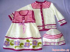 Фиалки для маленький принцессы (конкурсная работа) - Вязание - Страна Мам