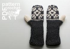 Ravelry: Floral Fair Isle Crochet Mittens (2016002) pattern by Erin Black
