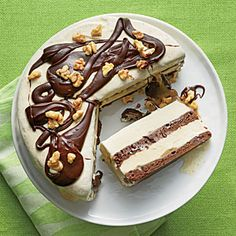 Brownie Ice Cream Sundae Cake - Coastal Living June 2014
