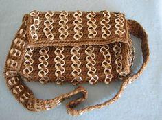 Free Crochet Pattern Pop Tab Purse In Brown