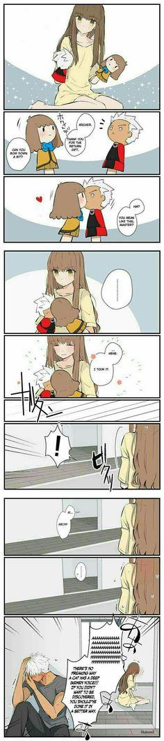 Hakuno and Archer Emiya
