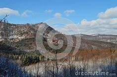 Mountains and romantic winter landscape and background in the spring.