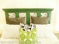 Door Headboard...love this!