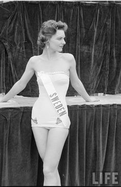 The First Miss Universe Pageant, 1952. Here Miss Sweden.
