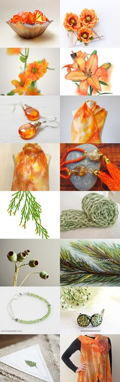 orange and by Matylda on Etsy--Pinned+with+TreasuryPin.com