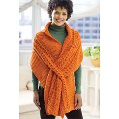 Mary Maxim - Free Wrap with Slits Crochet Pattern - Free Patterns - Patterns & Books